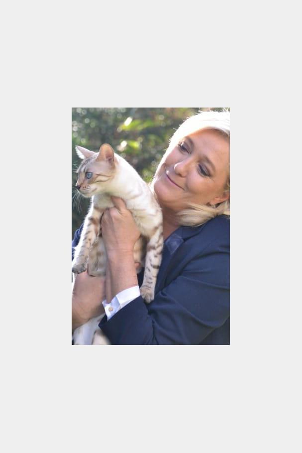Marine Le Pen, femme à chats