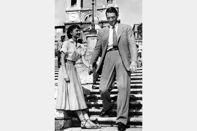 Audrey Hepburn en jupe longue