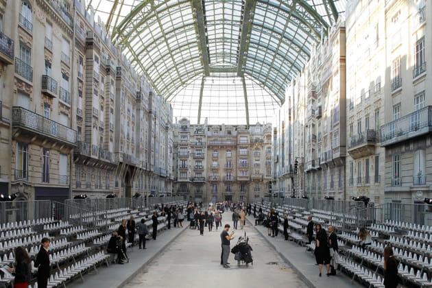 Le décor du défilé Chanel prêt-à-porter printemps-été 2015