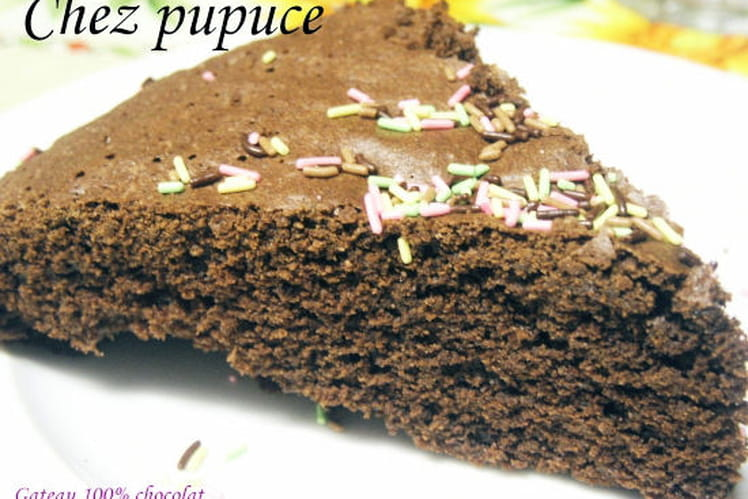 Gâteau 100% chocolat