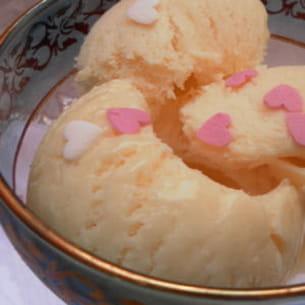 crème glacée au lait concentré