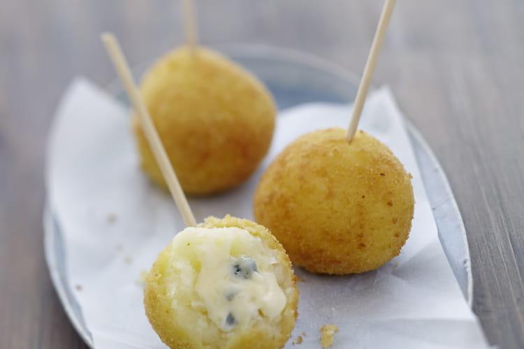 Croquettes au Bresse Bleu
