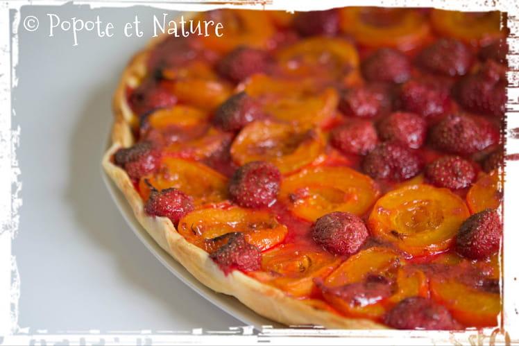 Tarte abricots fraises