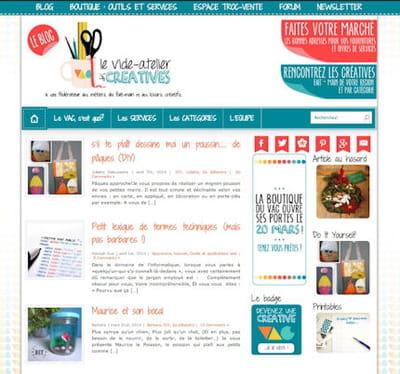 capture écran du site vide-atelier des créatives