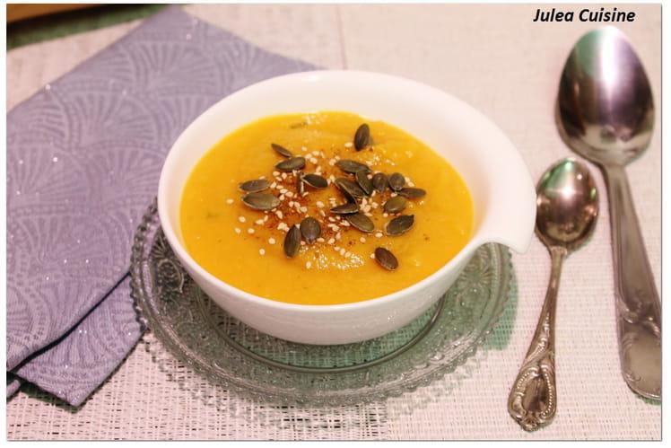 Soupe carotte, patate douce et courge Butternut