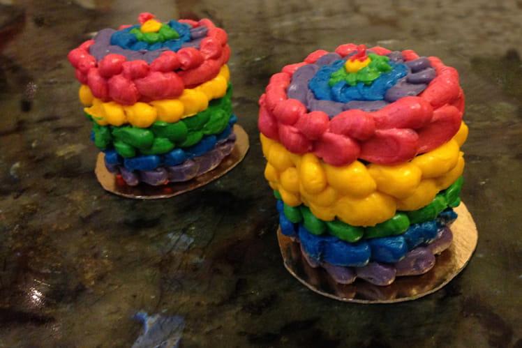 Cake arc-en-ciel (Rainbow cake)