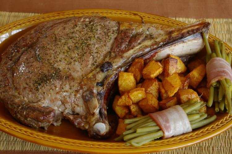 Recette de c te l 39 os la recette facile - Temps de cuisson cote de boeuf au grill ...
