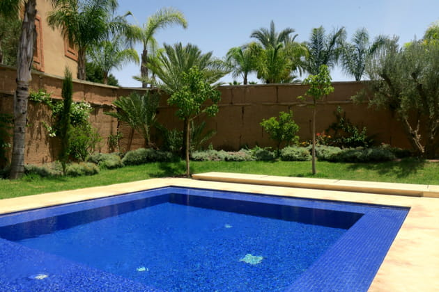 La piscine privée de la villa présidentielle