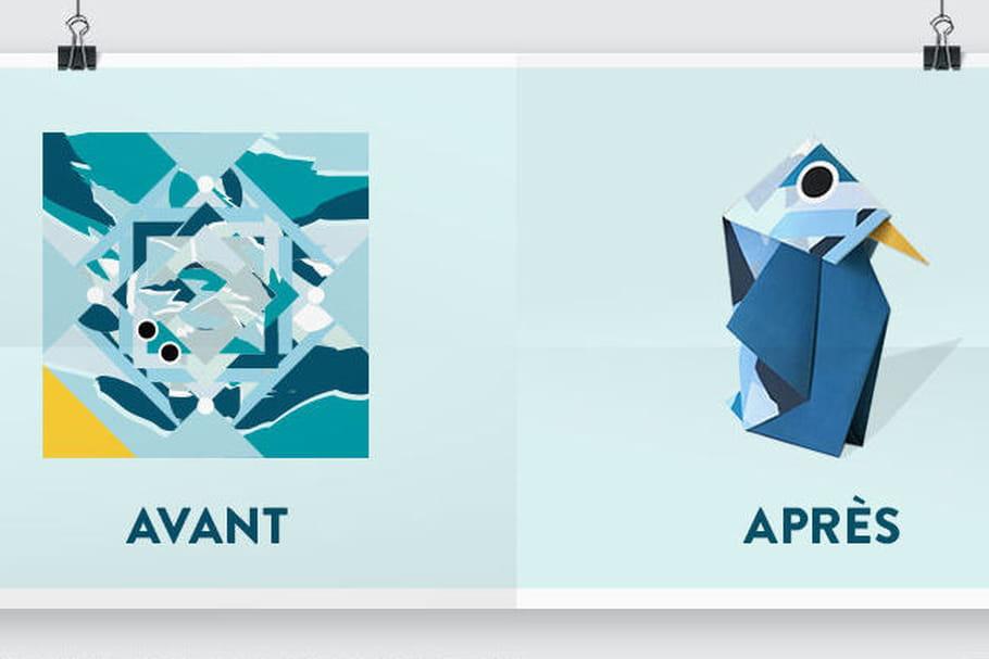 Culturalance un papier cadeau qui devient origami