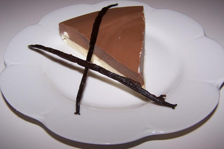 Bavarois chocolat-vanille
