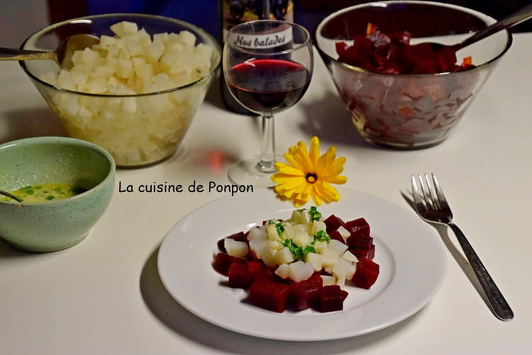 Salade de betterave rouge et radis noir