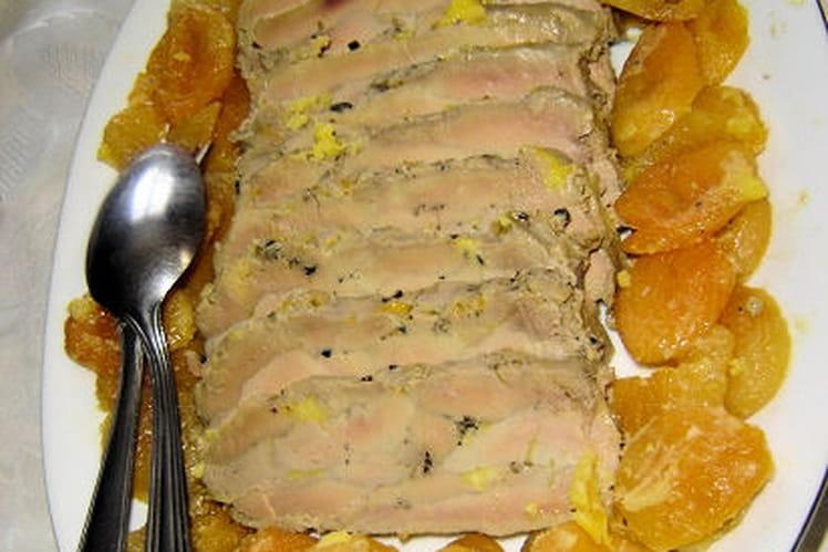 Foie gras aux abricots