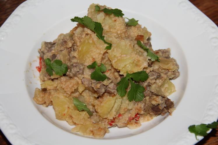 Boeuf pimenté sauce cacahuète façon thaïe