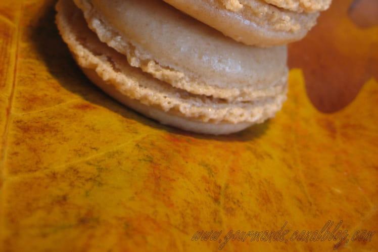 Macarons à la châtaigne et à la pomme