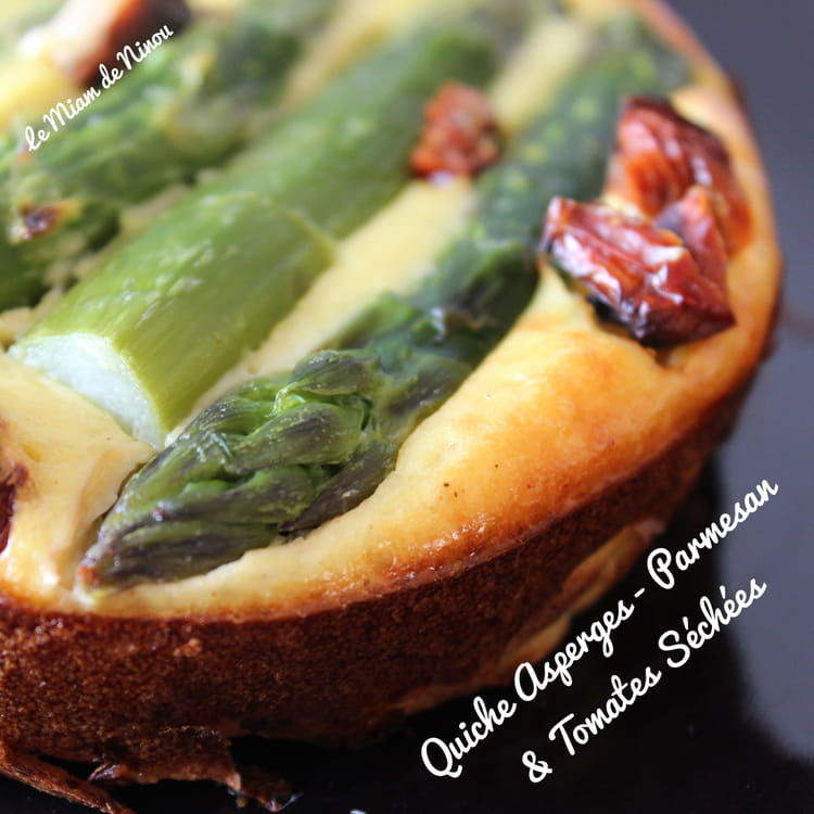 Recette de quiche asperge parmesan tomates s ch es la recette facile - Cuisiner les tomates sechees ...
