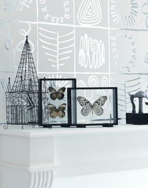 papier peint motifs fa on bijoux ethniques d 39 elitis. Black Bedroom Furniture Sets. Home Design Ideas