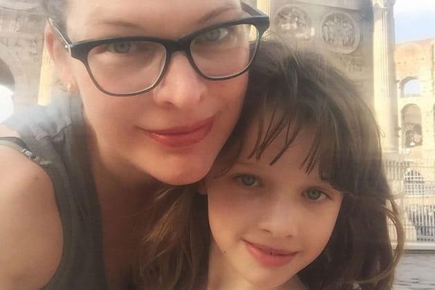 Milla Jovovich et sa fille Ever