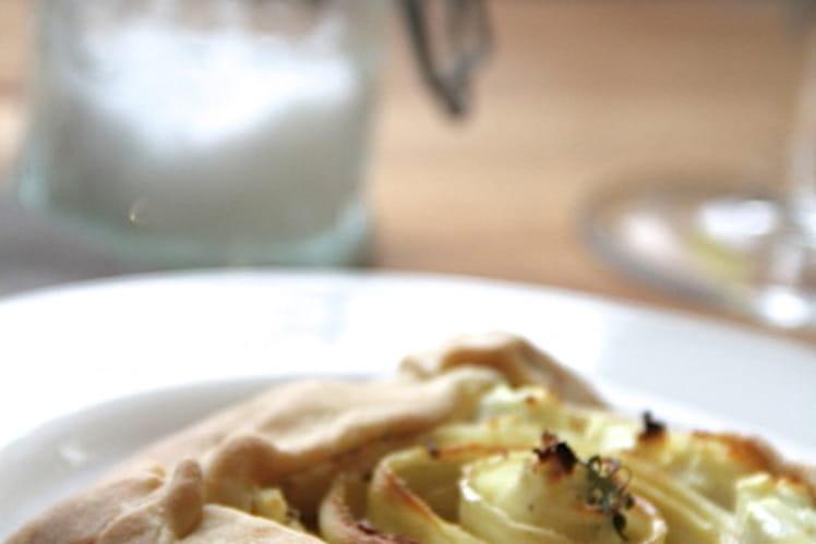 Tartelette de panais à la moutarde et au chèvre