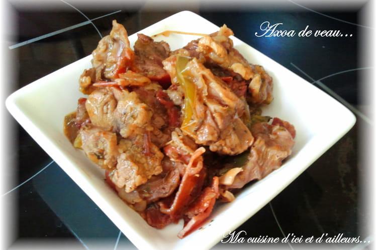 Axoa de veau au jambon de Bayonne