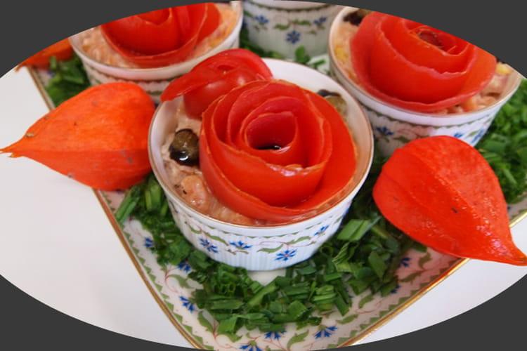 Tartare aux deux saumons et ses tomates