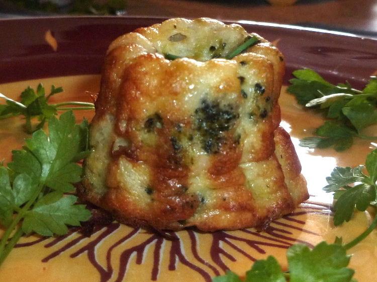 Recette petits souffl s de brocolis au ch vre entr e chaude - Cuisiner brocolis surgeles ...