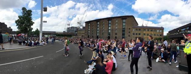 Granary Square : le public est dans la place