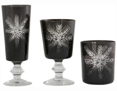verres à flocons de flamant