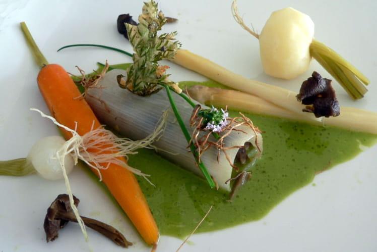 Légumes nouveaux en vinaigrette d'herbes