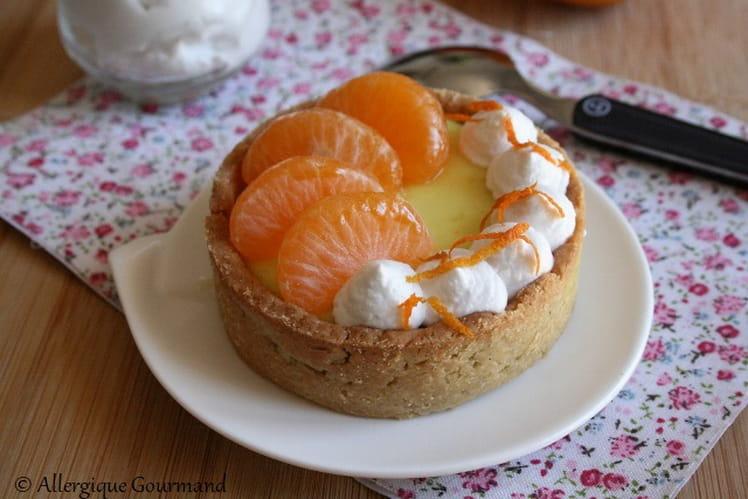 Tartelettes crèmes bergamote - clémentines chantilly coco