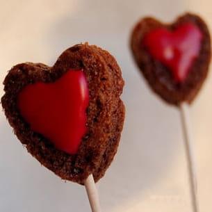 coeurs en sucettes pour la saint-valentin