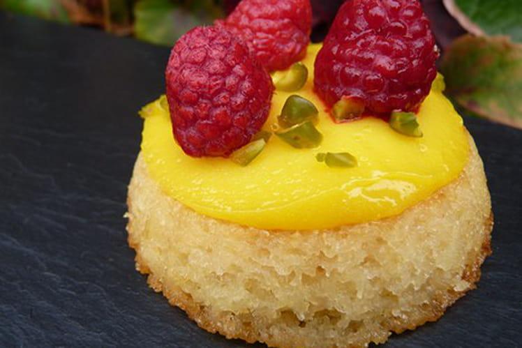 Fondant amande-amaretto, crème au citron