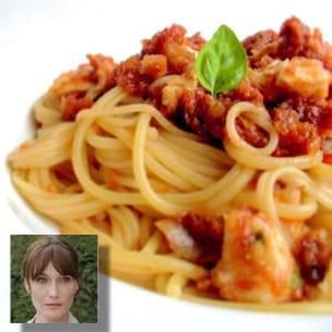 recette préférée carla bruni : pâtes à la sauce tomate