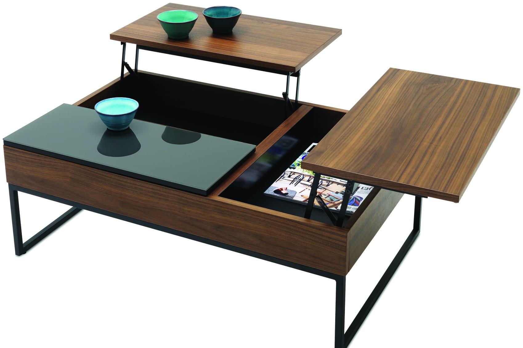 Table basse avec espace de rangement boconcept - Table basse transformable table haute ...