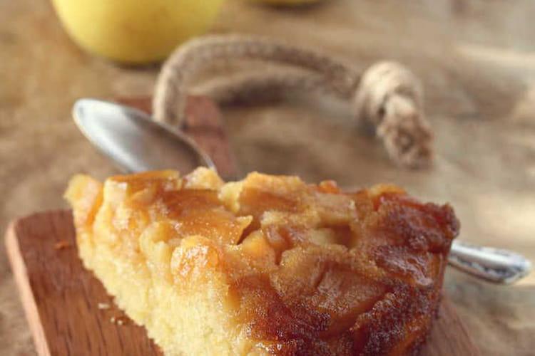 Gâteau renversé aux pommes confites