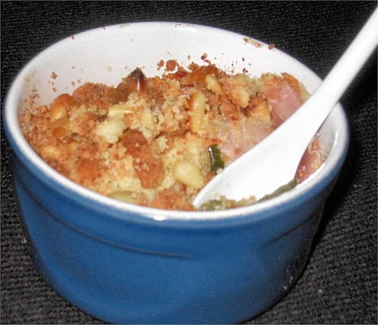 Recette de petit crumble de courgettes la recette facile for Petite entree sympa