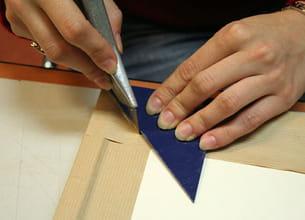 recouvrir l'arrière du cadre de papier kraft