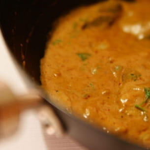 curry 'chu chi' de filet de lieu jaune