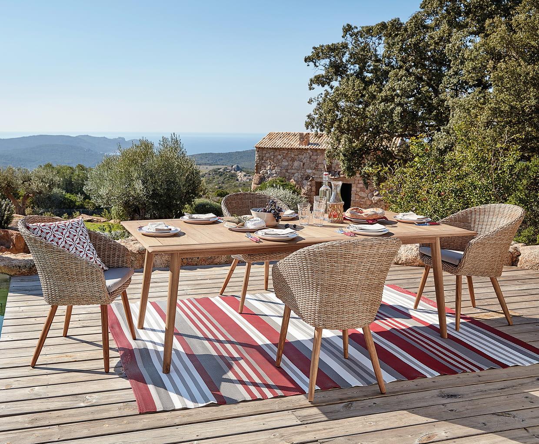 mobilier de jardin fr jus et kuta de maisons du monde. Black Bedroom Furniture Sets. Home Design Ideas