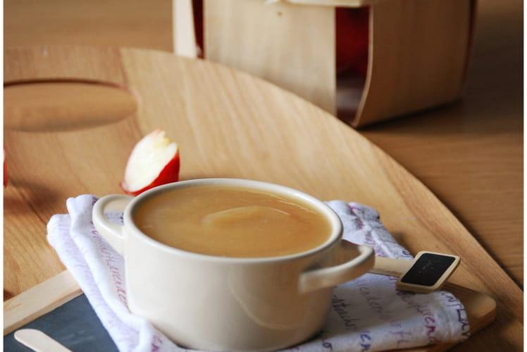 Compote pommes-poires, miel et vanille