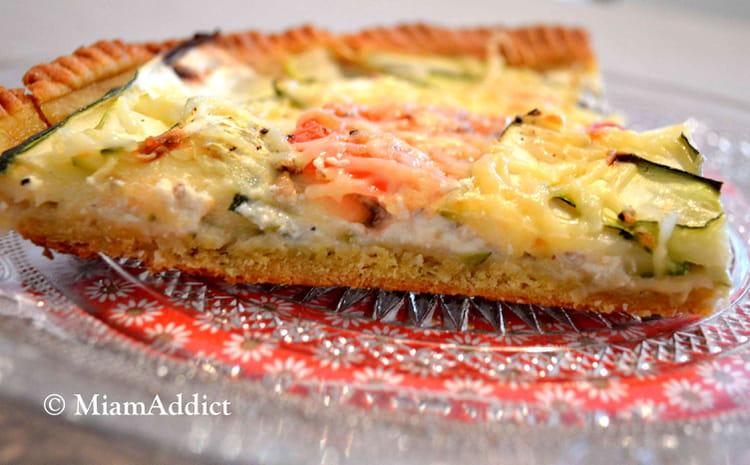 Recette de tarte tomate courgette au tofu soyeux la recette facile - Recette tarte salee originale ...