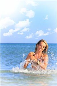 en vous baignant vous ralentissez la déshydratation due à la chaleur et au