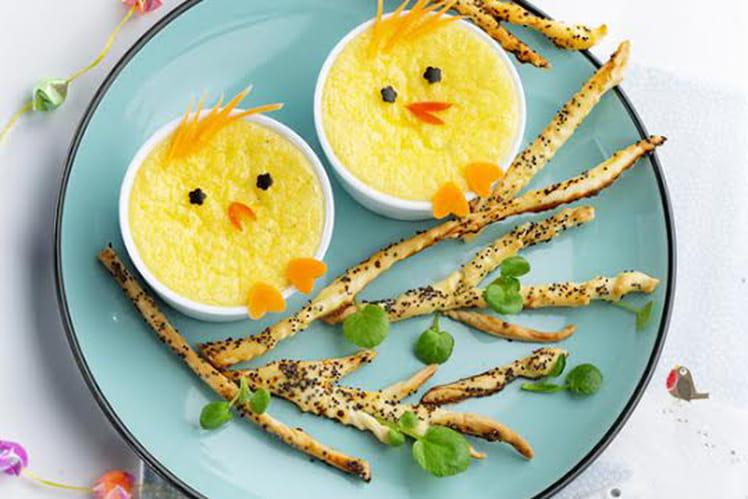 Poussins à la crème de parmesan