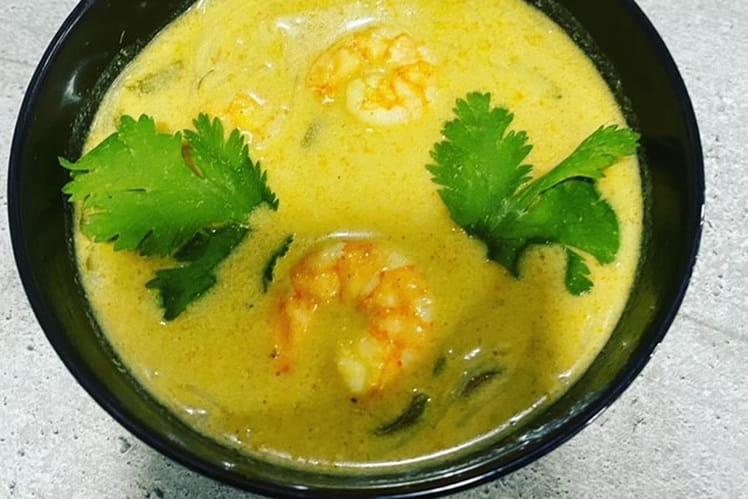 Soupe inspiration Thaï aux crevettes