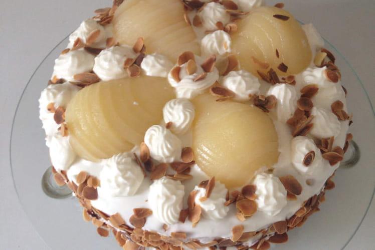 Poirier, gâteau aux poires et à la mascarpone