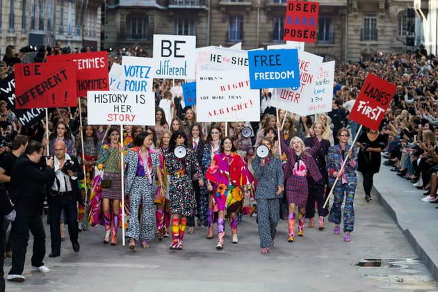 Manif au boulevard Chanel