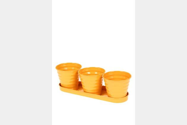 Cache-pots jaune