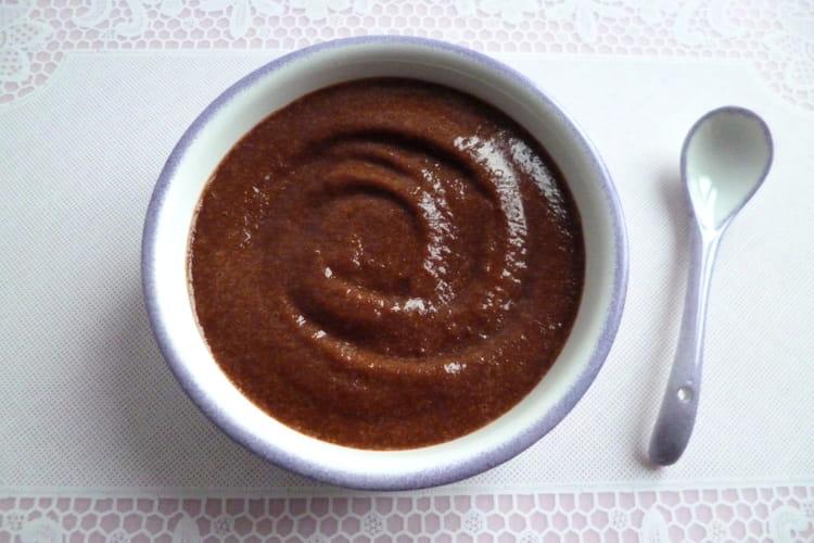 Crème dessert pomme chocolat