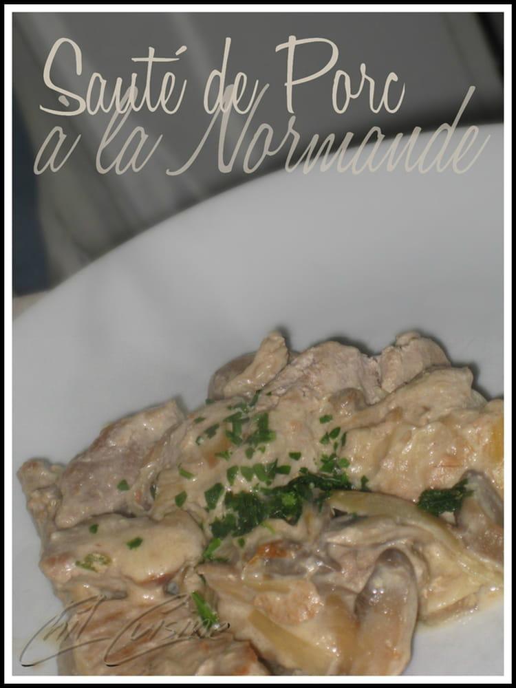 Recette de saut de porc la normande la recette facile - Cuisiner un saute de porc ...