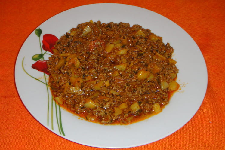 Viande hachée façon malgache (Kimou)