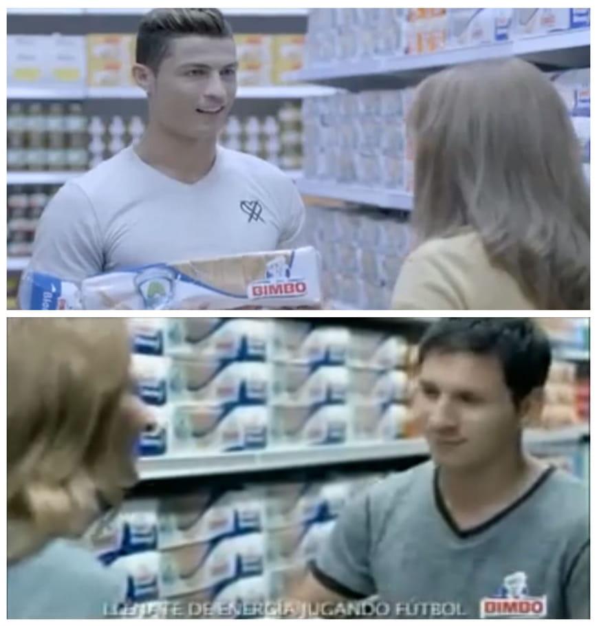Cristiano Ronaldo et Lionel Messi, adeptes du pain de mie